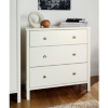 Baltic White Wide Chest - 3 Drawer main view