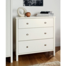 Baltic White Wide Chest - 3 Drawer