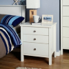 Baltic White Bedside - 3 Drawer main view