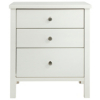 Baltic White Bedside - 3 Drawer alternative view