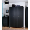 Baltic Black Wardrobe - 3 Door main view