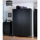 Baltic Black Wardrobe - 3 Door