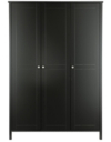 Baltic Black Wardrobe - 3 Door alternative view