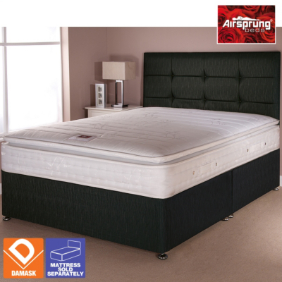 Cheap Single  Mattresses on Airsprung Boston Bed Black Single   Various Storage  1 Review  Product