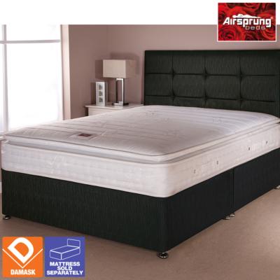 Airsprung Boston Bed Black King - Various Storage