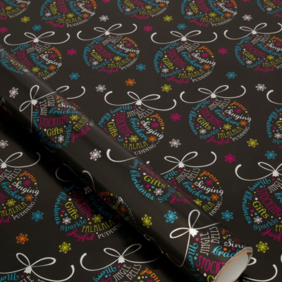 ASDA Bright Bauble Wrapping Paper - 5 metres, Brights