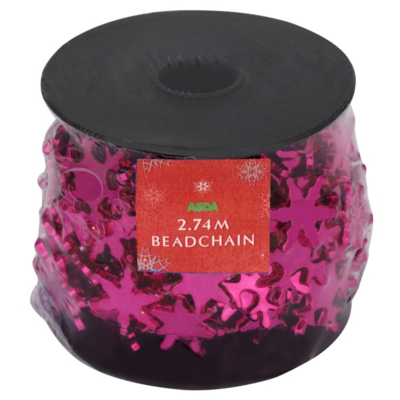 ASDA Snowflake Beads - Pink, Brights