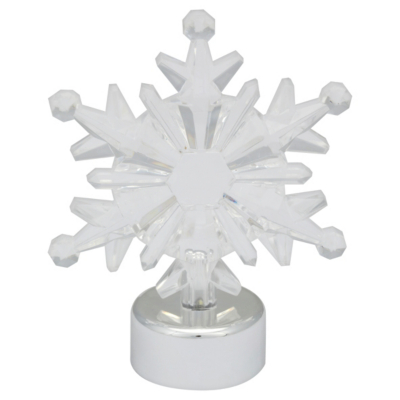 ASDA LED Snowflake Table Decoration - Silver, Silver