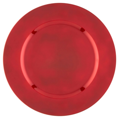 ASDA Red Charger Plate, Red