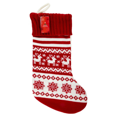 ASDA Christmas Scandinavian Stocking, Red