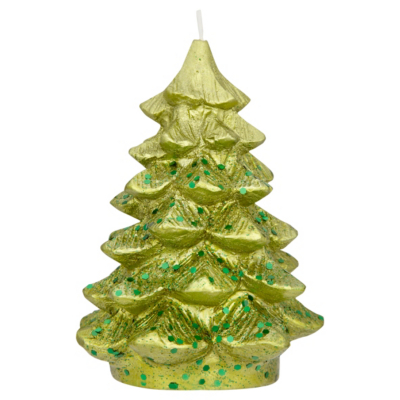 ASDA Christmas Tree Candle - Green, Brights