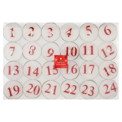ASDA Advent Tealights, Red