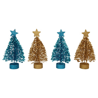 ASDA Mini Trees Gold, Gold