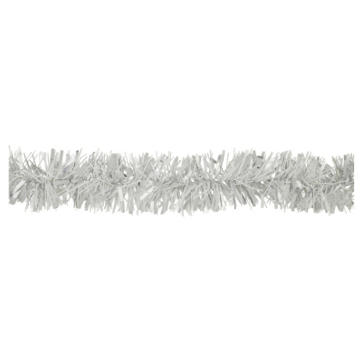 ASDA Luxury Sparkle Tinsel White and Silver - 3 metres, Silver