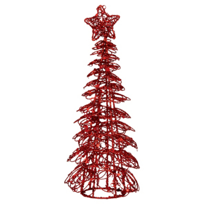 Glitter Tree Table Piece - 30cm, Red