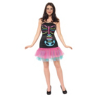 ASDA Skeleton Lady Halloween Fancy Dress Costume