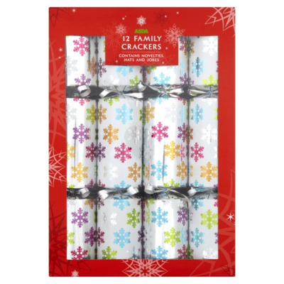 Brights Cube Christmas Crackers - 12 pack, Brights