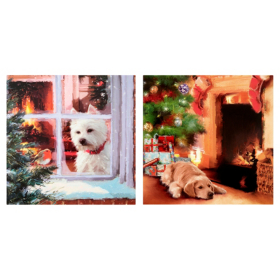 ASDA Glitter Dog Christmas Cards - 15 pack, Red