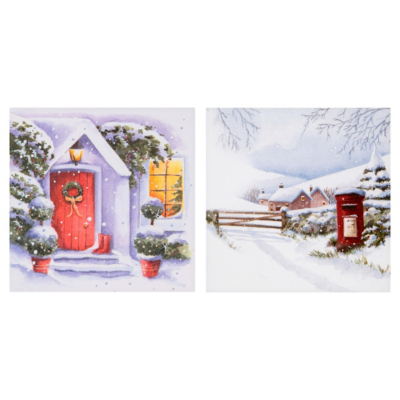ASDA Postbox Christmas Cards - 15 pack, Red