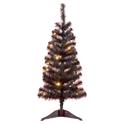 ASDA Prelit Black Christmas Tree - 3ft, Black