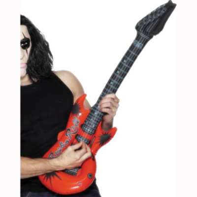 Fancy Dress Inflatable Guitar - 39 inches long, Black