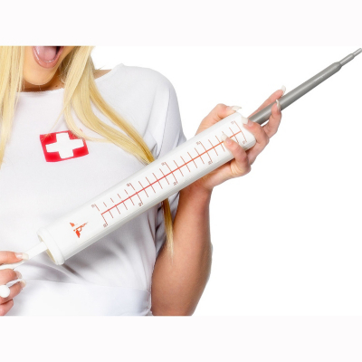 Fancy Dress Jumbo Syringe, White