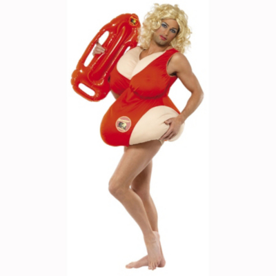 Baywatch Swimsuit Body Fancy Dress Costume -