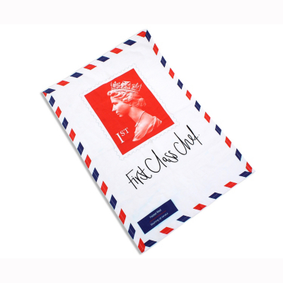 The Stamp Collection: First Class Chef Tea Towel, Red, White and Blue