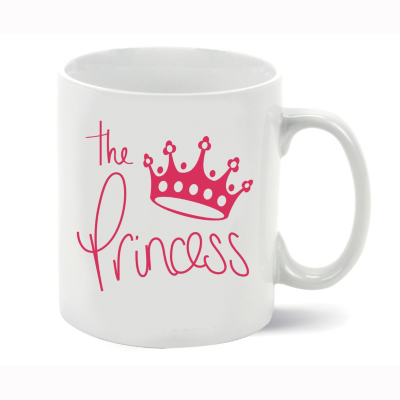 Royalty: The Princess Porcelain Mug, White