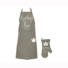 Royalty: BBQ King Apron and Oven Mitt Set
