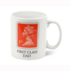 The Stamp Collection:  First Class Dad Porcelain Mug
