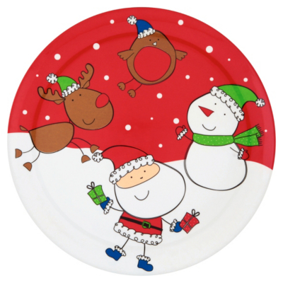 ASDA Kids Festive Melamine Plate - Small, Red