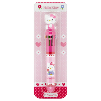 Hello Kitty 10 Colour Pen, Pink