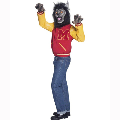 High School Werewolf Halloween Fancy Dress Costume