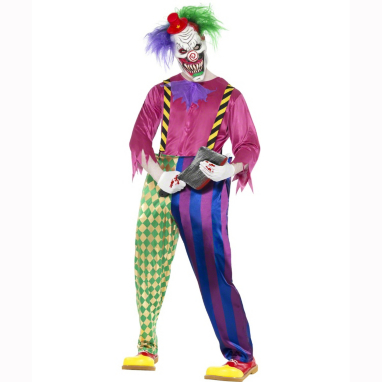Kolorful Killer Klown Clown Halloween Fancy Dress Costume