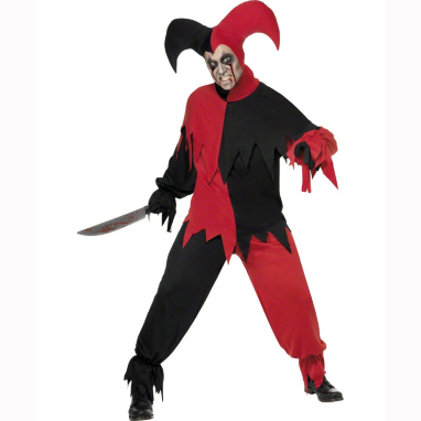 Dark Jester Halloween Fancy Dress Costume