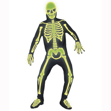 Glow In The Dark Skeleton Halloween Fancy Dress Costume