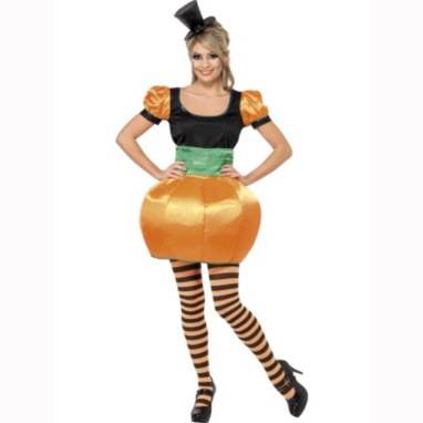 Pumpkin Lady Halloween Fancy Dress Costume