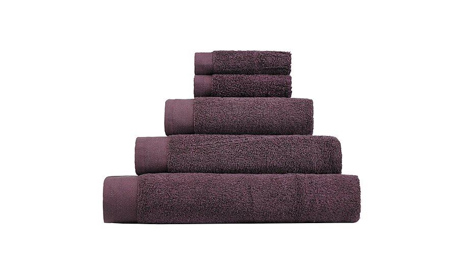 George Home 100 Cotton Bath Towel Mauve Towels Bath Mats George