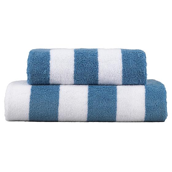 george home design towel range denim stripe towels. Black Bedroom Furniture Sets. Home Design Ideas