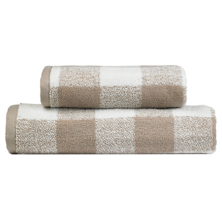 george home design towel range natural check towels. Black Bedroom Furniture Sets. Home Design Ideas