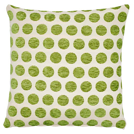 George Home Green Spot Chenille Cushion Cushions Asda
