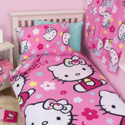 Hello Kitty Duvet Set  Single MultiColoured