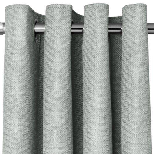 George Home Grey Textured Weave Eyelet Curtains Curtains