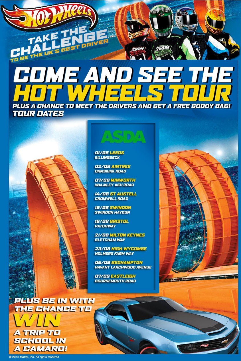 Hot Wheels Tour Date