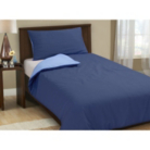 ASDA Plain Dye Blue Duvet Cover - Single