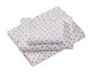Little Angels Heart Fitted Cotbed Sheets - 2 Pack