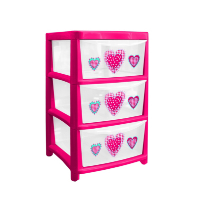 Asda Direct Asda 3 Drawer Plastic Storage Pink Pink Special Savings Today At Asda Direct