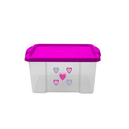 hearts 30l plastic storage kids asda direct. Black Bedroom Furniture Sets. Home Design Ideas