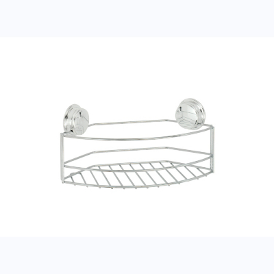 Croydex Twist 'N' Lock Large Basket - Chrome